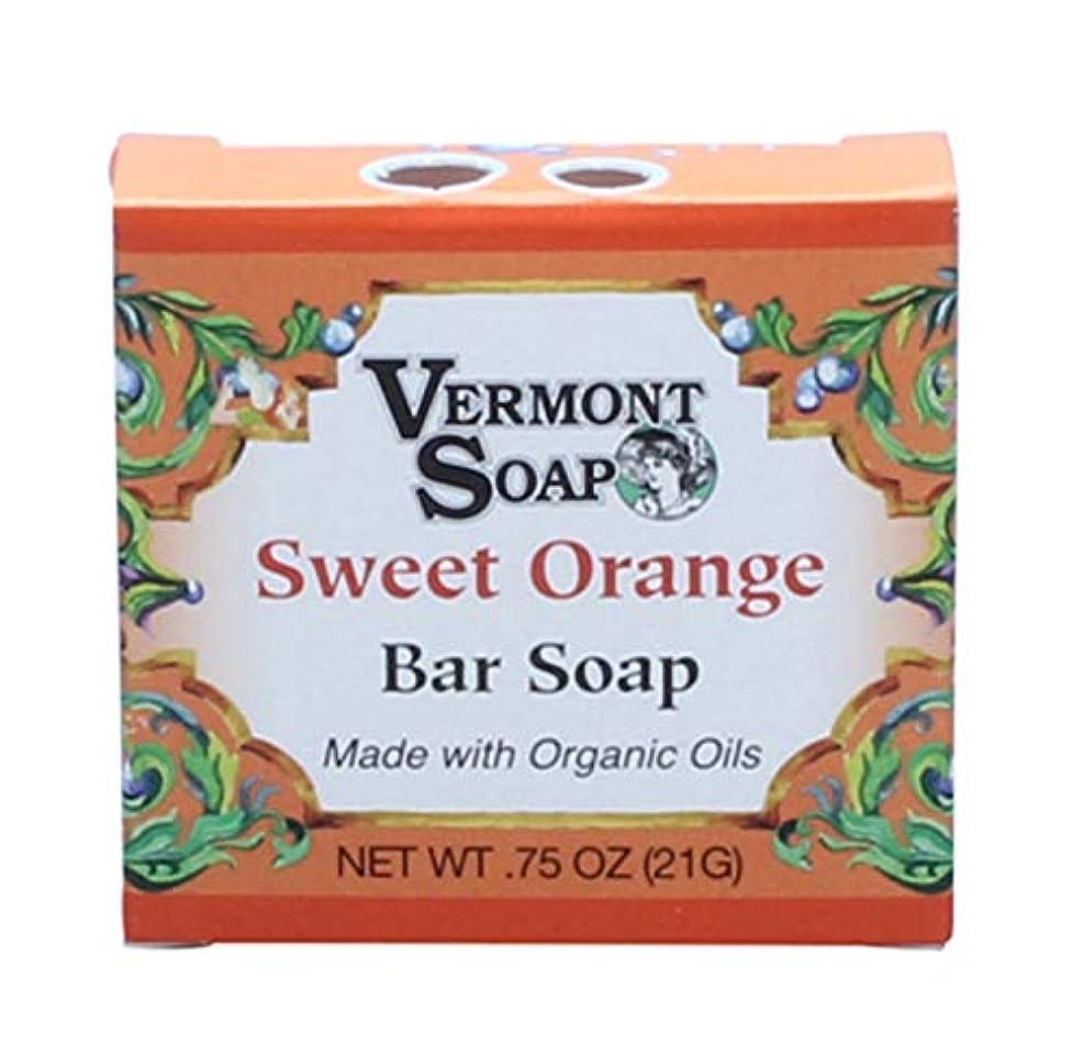 因子ちょっと待って心理的バーモントソープ トラベルサイズ (スイートオレンジ) オーガニック石鹸 洗顔 21g