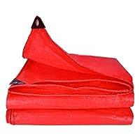 多目的 赤 ターポリン アウトドア キャンプ 防水 防塵 耐候性UVシェルター耐性 ルーフラックアースカバー アルミアイレット