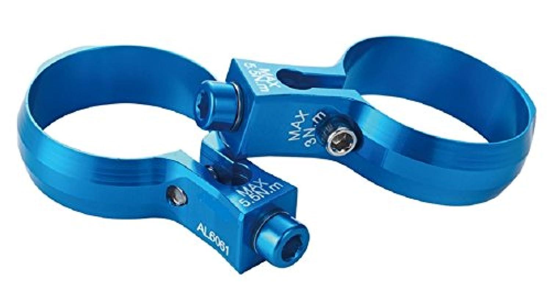 KCNC 自転車 シートピラー ポスト取付 ボトルケージクランプ 30.9MM ペア SUSボルト ブルー 063014