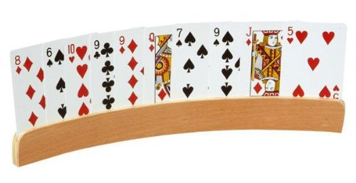 Playing Card Holder Curved Wood Set of 2