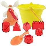 ビーチおもちゃセット組み合わせシャベルおもちゃバケツ遊び砂ツールビーチ浚渫砂のおもちゃ (色 : D)