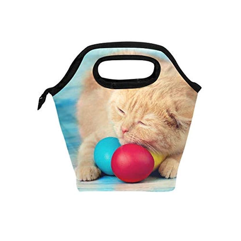 写真を撮る寄付するびんランチバッグ 弁当バッグ お弁当 お弁当箱 睡眠 猫柄 可愛い 保冷保温 保温弁当 大容量 手提げ 通勤 通学