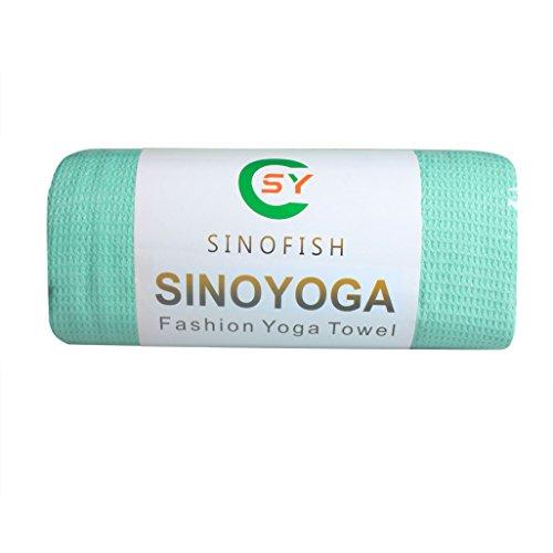 [해외]SinoFish 요가 트레이닝 노 슬립 요가 라구 미끄럼 방지 뛰어난 실리콘 입자 와플 짜다 두께 타올/SinoFish yoga mat training no slip yoga rag preeminent slip silicone grain waffle weave thick towel