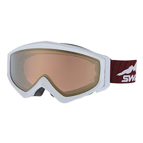 SWANS(スワンズ) ゴーグル 眼鏡使用可 スキー スノーボード 偏光 ミラー ゲスト GUEST-MPDH PAW パールホワイト