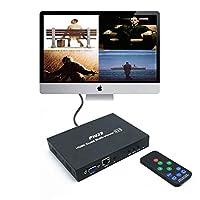 PW-MH41B 1920×1080P @ 60HzのHDMIクワッド4×1マルチビューアHDMI1.3はHDMIとVGAの両方のインターフェイスとEDID機能をサポート