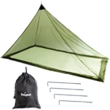 Single Camping Mosquito Net for Bed, Compact and Lightweight, Black