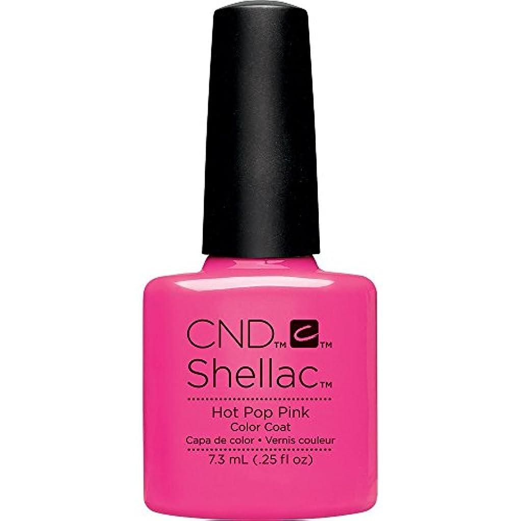 柔らかい動物幾何学CND(シーエヌディー) シェラック UVカラーコート 519 Hot Pop Pink(マット) 7.3ml