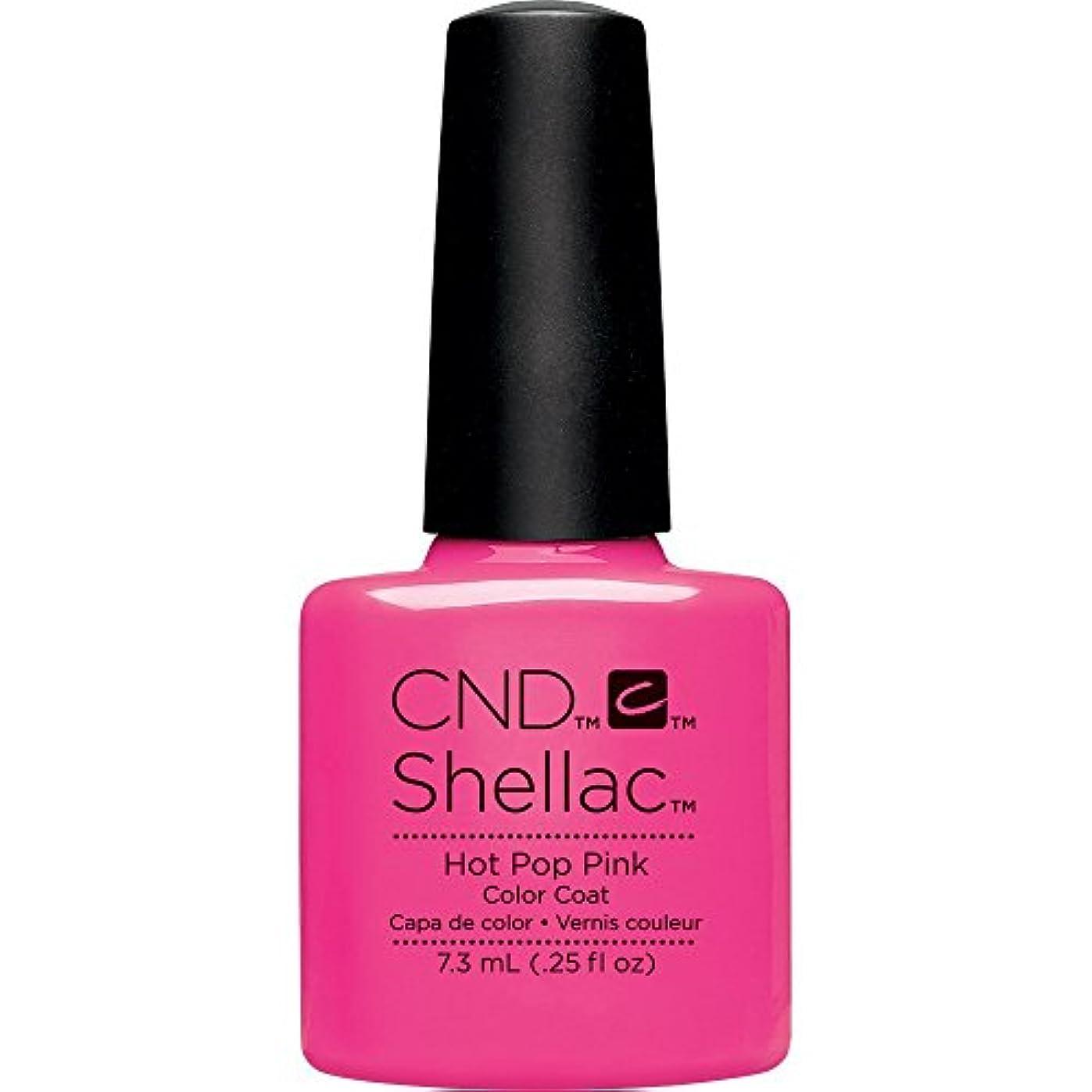 先祖泳ぐに対してCND(シーエヌディー) シェラック UVカラーコート 519 Hot Pop Pink(マット) 7.3ml