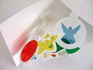 クリスマスカード POP-UP CARD 8枚入り/Stained Glass Ornaments AJ-249