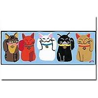 猫の足あと ポストカード 「幸福まねきねこ」