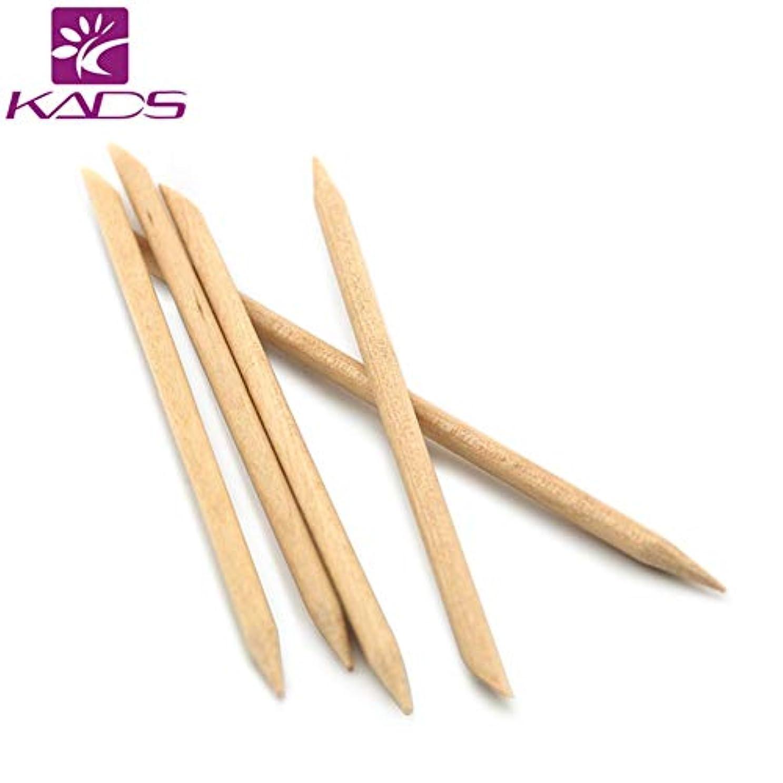 拘束影安心KADS 最高品質オレンジウッドスティック ジェルネイル用 5本入り(ウッド棒 検定)