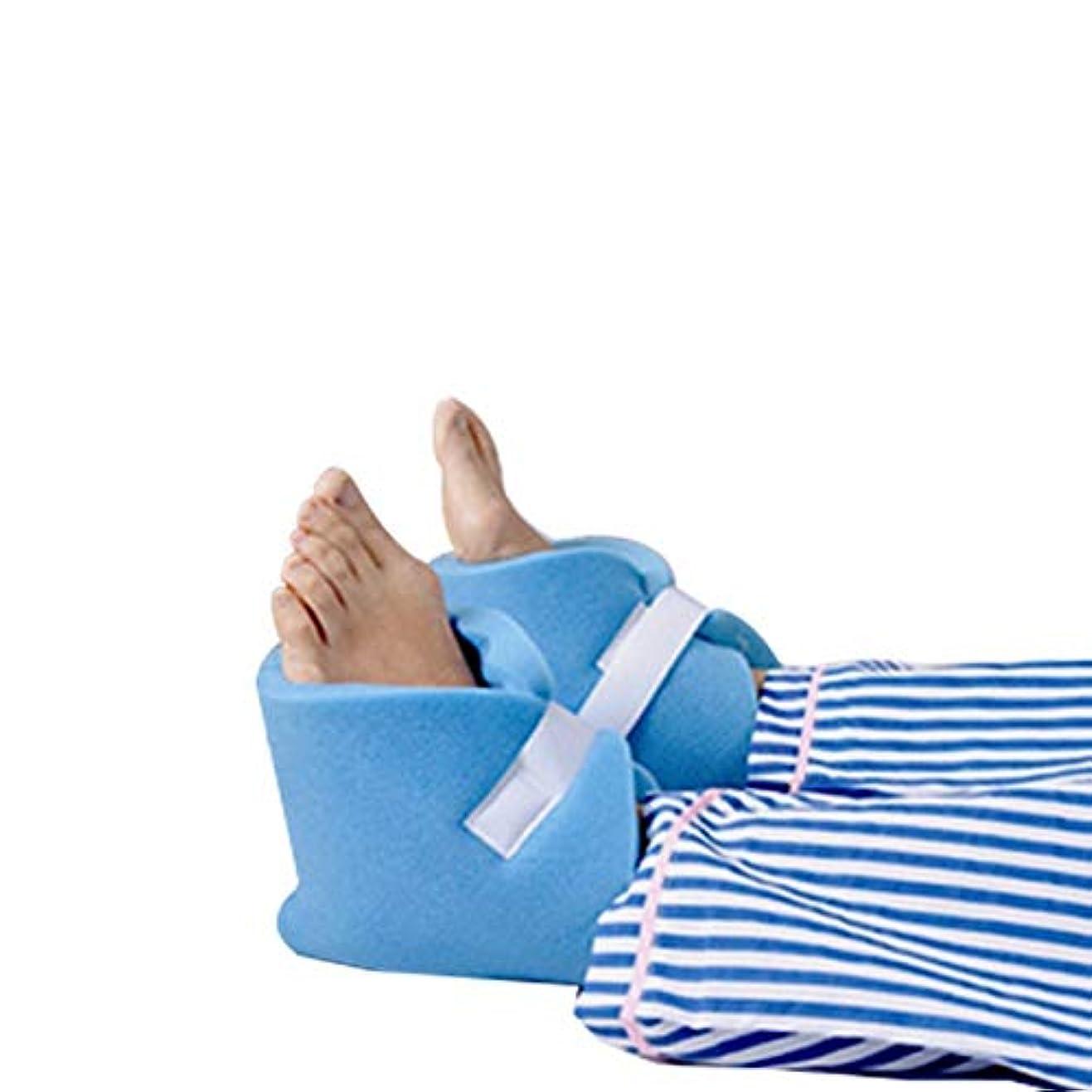 直接柔らかいたまに泡のかかと足首足の保護具クッションの褥瘡用レッグレストピロー、デラックスワンペア