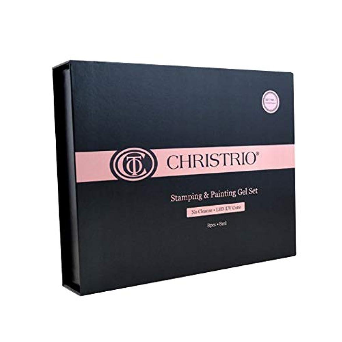 邪魔するチップ厚いCHRISTRIO スタンピング&ペインティングジェルセット No.2