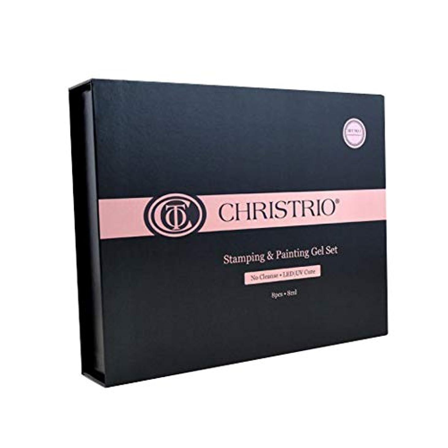 ピアノ気がついて商標CHRISTRIO スタンピング&ペインティングジェルセット No.1