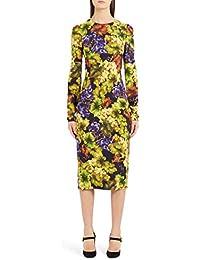 (ドルチェ&ガッバーナ) Dolce&Gabbana Grape Print Cady Body-Con Dress ブドウプリントCady Body-Con Dress (並行輸入品)