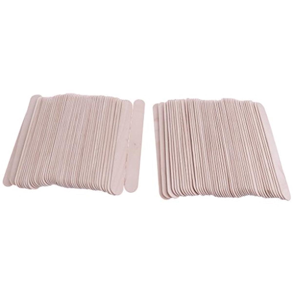 カード成功強盗Kesoto 木製スティック スパチュラ 舌圧子 タトゥーワックス 約100枚 ワッペン 使い捨て スティック