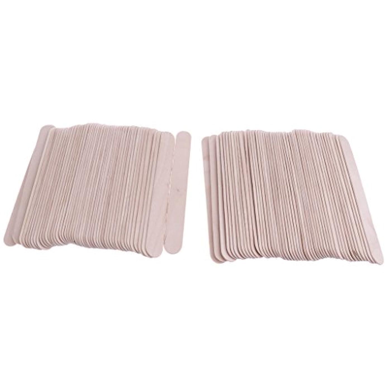 投げ捨てるペスト許容できる木製スティック スパチュラ 舌圧子 タトゥーワックス 約100枚 ワッペン 使い捨て スティック