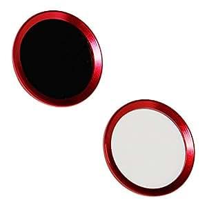 【お買い得2枚セット】指紋認証機能対応 ホームボタンシール 取付簡単 2枚入り (赤)