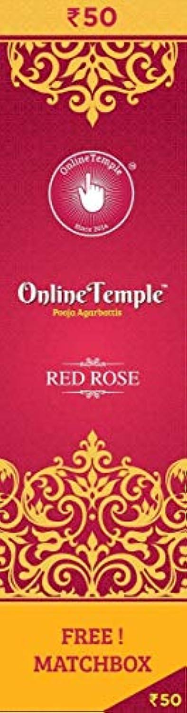酸化物環境保護主義者敬の念Online Temple Pooja Agarbattis (Incense Stick) red Rose Fragrance (pack of 2)