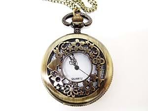 懐中時計 不思議の国のアリス風 ペンダント