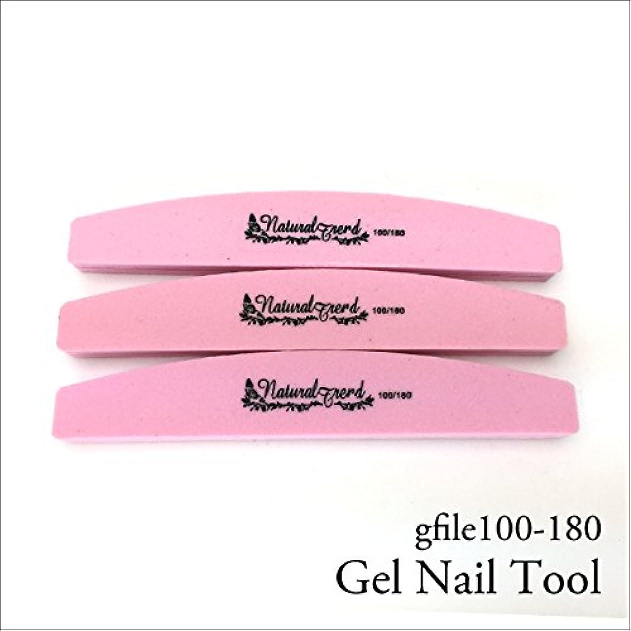 ベスト姪さようならNaturalTrend ジェルネイル 爪やすり バッファー ファイル 100-180 3本セット