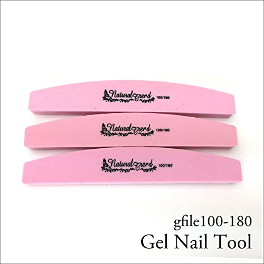 収束パン屋本体NaturalTrend ジェルネイル 爪やすり バッファー ファイル 100-180 3本セット