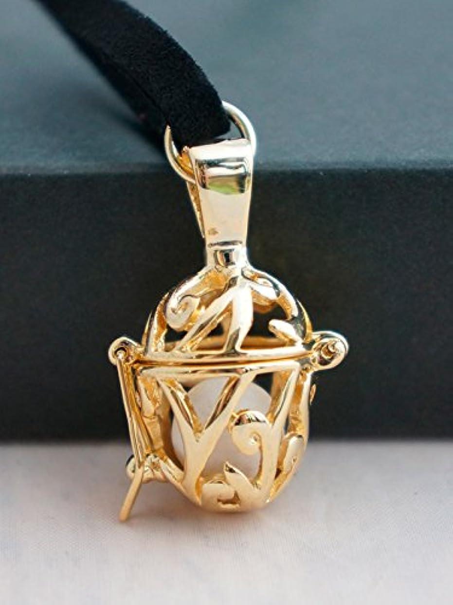 ラダ義務樹皮アロマラボ アロマペンダント セラミックボールスペア3個付 (ゴールド)
