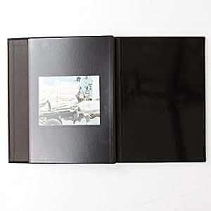 無印良品 綿麻増やせる アルミコート フリー台紙アルバム A4タイプ・10枚入・黒 20枚収納可能
