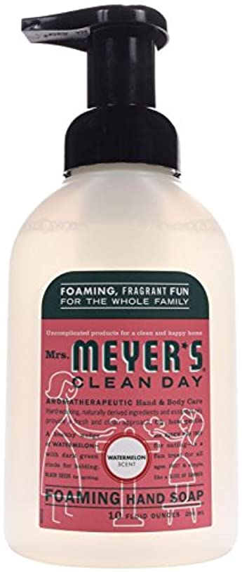 一貫性のないブラウン寝てるFoaming Hand Soap - Watermelon - Case of 6 - 10 fl oz by Mrs. Meyer's