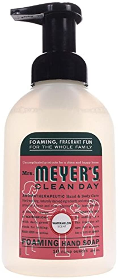 状態パフ一定Foaming Hand Soap - Watermelon - Case of 6 - 10 fl oz by Mrs. Meyer's
