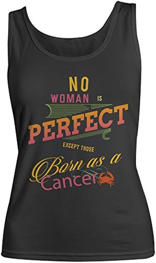 政令礼拝アノイNo Woman Is Perfect Except Those Born As A Cancer Zodiac Sign お誕生日 レディース Tank Top Sleeveless Shirt