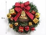 Lifedesign かわいい! クリスマス リース 選べるカラー 【32㎝】 (No、2) -