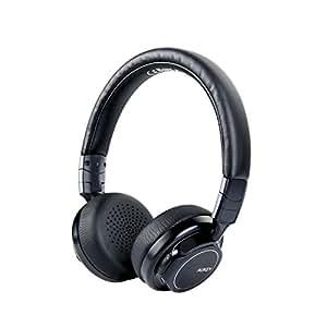 AUKEY bluetoothヘッドホン ワイヤレスヘッドフォン 18時間連続再生 折り畳み式 有線で使用可 マイク付き iPhone XS/XS Max/XRなどに対応 EP-B36