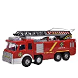 ライト、電気消防車のおもちゃ、回転可能な拡張消防車の音楽トラックのおもちゃ、子供のためのクリスマスプレゼント誕生日プレゼント