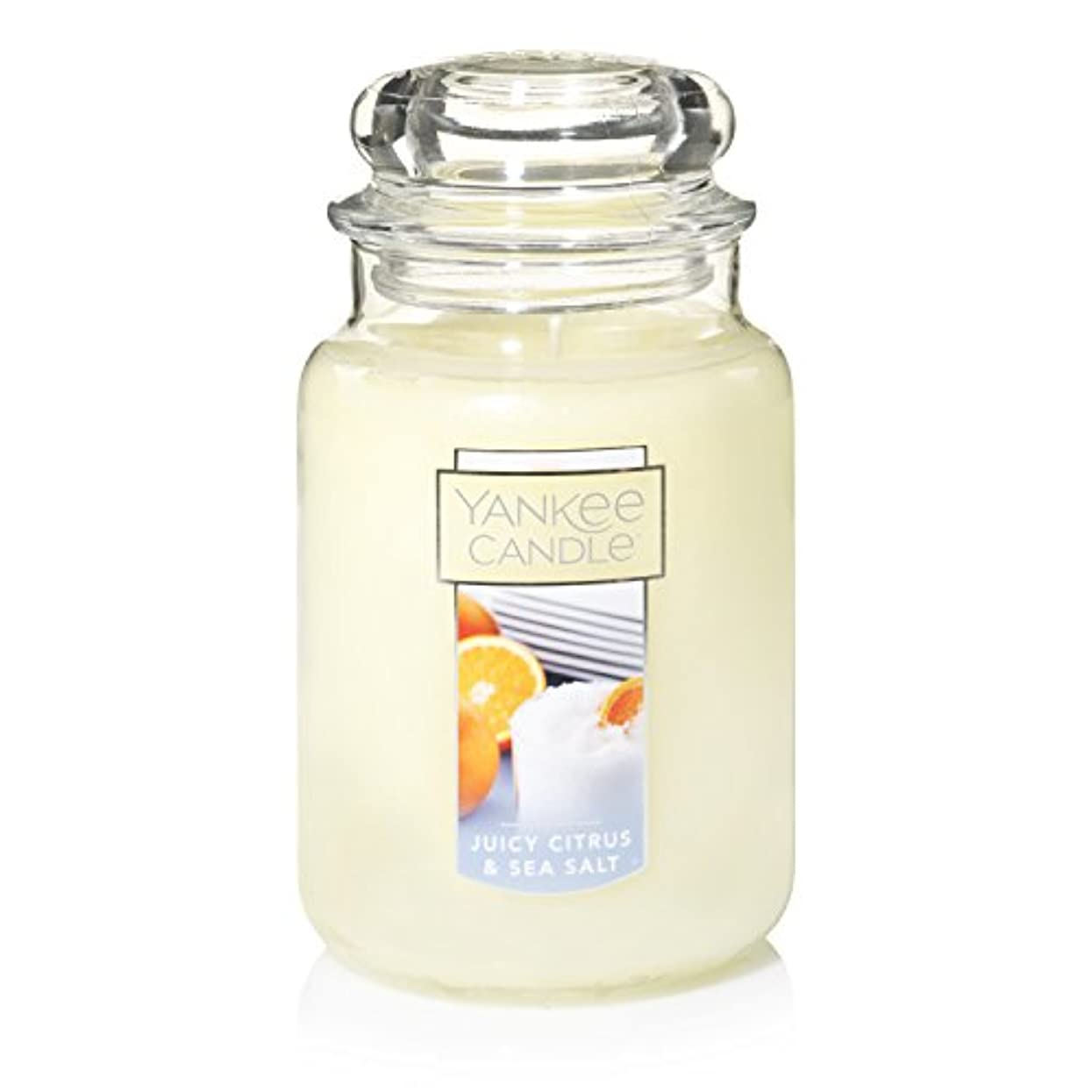 ミリメートルケント確認Yankee Candle Juicy Citrus & Sea Salt Jar Candle, Large