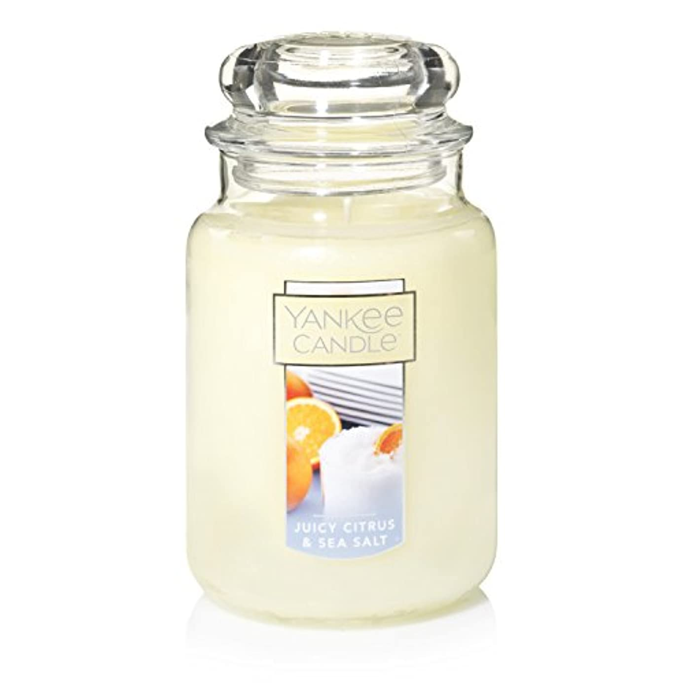 充電モチーフイースターYankee Candle Juicy Citrus & Sea Salt Jar Candle, Large