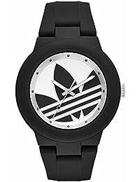 [アディダス] adidas メンズ レディース アバディーン ホワイト文字盤 ブラック シリコンベルト ADH3119 腕時計 [並行輸入品]