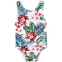 Sealourea Infant Toddler Baby Girls One-Piece Swimsuit Floral Sleeveless Swimwear Bathing Suit Bikini Beachwear 0-3T