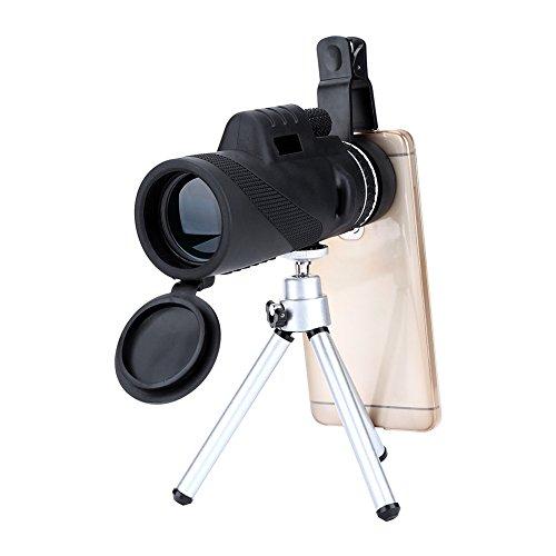 40X60 高倍率 単眼鏡 望遠鏡 クランプ 三脚付き スマ...
