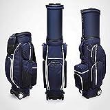 ゴルフカートバッグ、軽量ナイロン、引っ張り引き込み式バッグ、49.2 * 35.8 * 17.3 インチフェアウェイゴルフスタンドバッグ