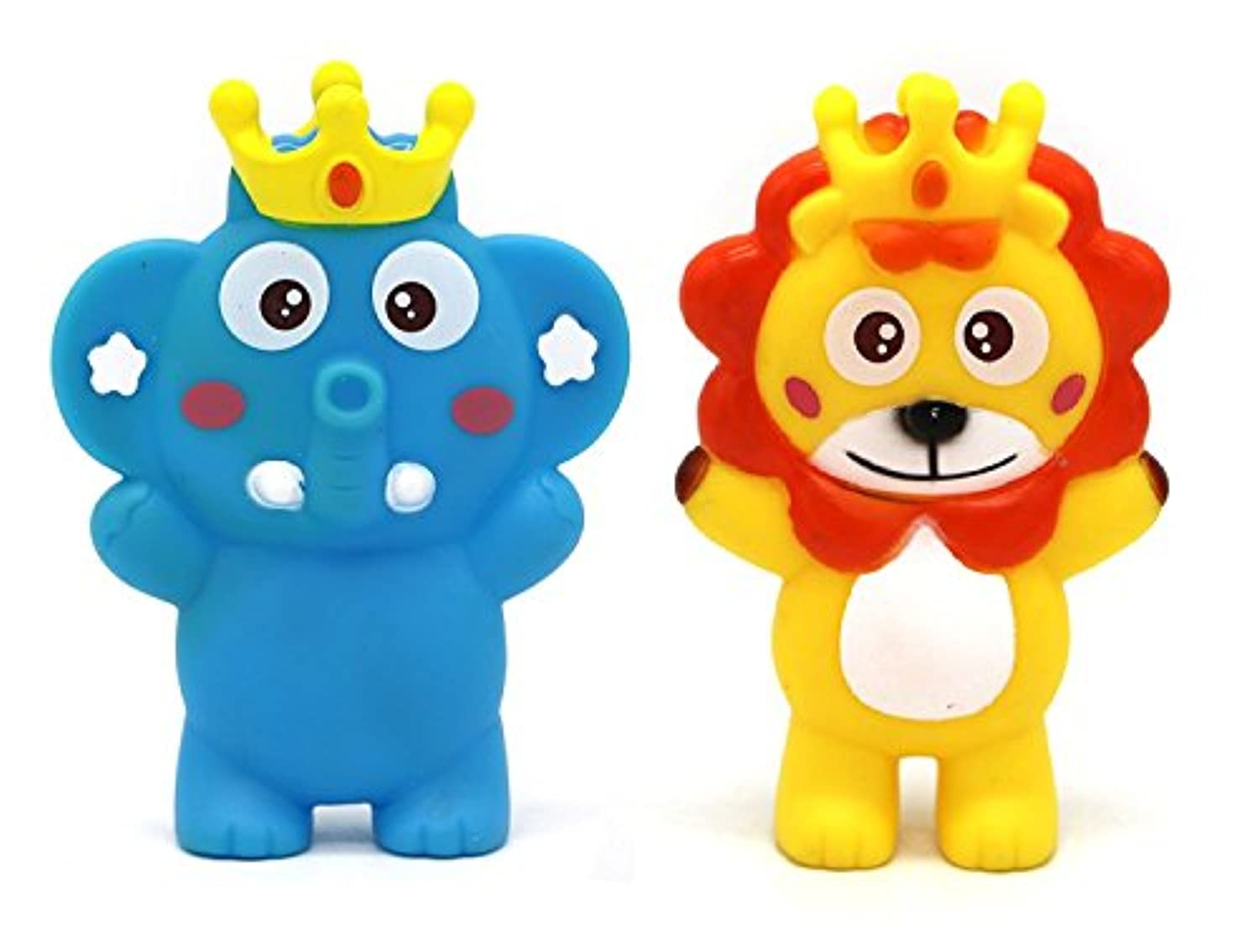 Little Treasures Teether Toy 3-in-1 Squeeze Whistle Bath Toy Includes 2 Individual Toy Characters [並行輸入品]
