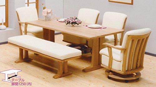ダイニング テーブル セット 6点 大型 180×90 ソファタイプ SERENADE (張地(pvc))
