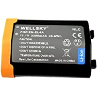 [WELLSKY] Nikon ニコン EN-EL4a / EN-EL4 互換バッテリー [ 純正品と同じよう使用可能 純正充電器で充電可能 残量表示可能 ] D2X / D2Xs / D2H / D2Hs / D3 / D3S/ D3X / D700 / D300S / D300