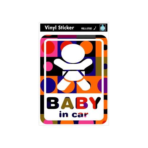 ゼネラルステッカー SK-117 Baby in car-レトロ1イメージ