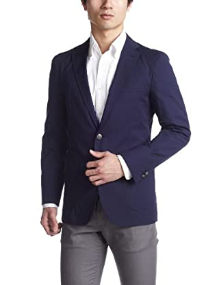Stretch Cotton 2-button Jacket 3122-116-0232: Navy
