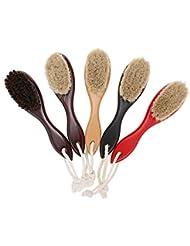 Decdeal シェービングブラシ 男性 剃毛ブラシ 理髪店 サロン 木製ハンドル かみそりブラシ ひげ剃りツール