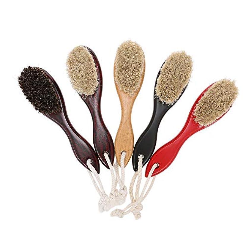 セラー貫通する習慣Decdeal シェービングブラシ 男性 剃毛ブラシ 理髪店 サロン 木製ハンドル かみそりブラシ ひげ剃りツール