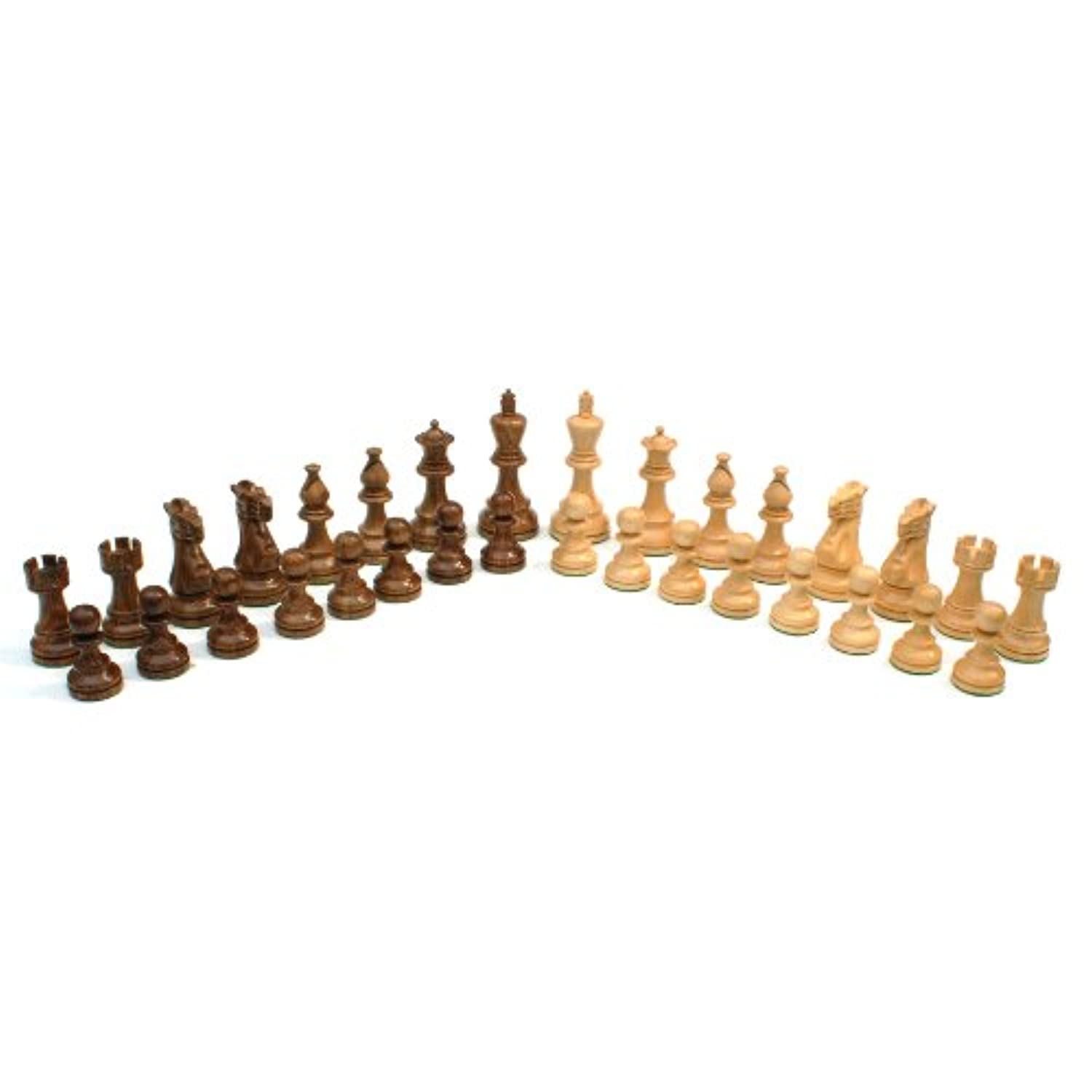 WE Games English Staunton Chessmen - Weighted & Handpolished Wood with 3.75 in. King
