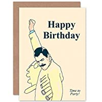 NEW BIRTHDAY HAPPY FREDDIE MERCURY FUN ART GREETINGS GREETING CARD GIFT ハッピー挨拶贈り物