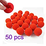 Yiteng 赤鼻 トナカイ ピエロ コスプレ用 簡単 装着 大人 子供 兼用 50個セット